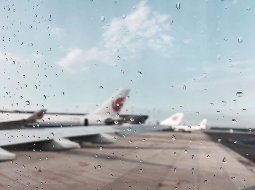 widok na lotnisko